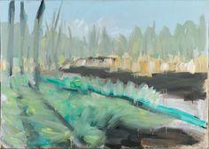 Tomáš Bambušek | Zelená žíža (rašeliniště na blatech), 195x145cm, olej na plátně 2014.Mažice, Borkovická blata #madeinBUBEC
