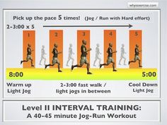Level II interval training - try this after a few weeks of doing level I
