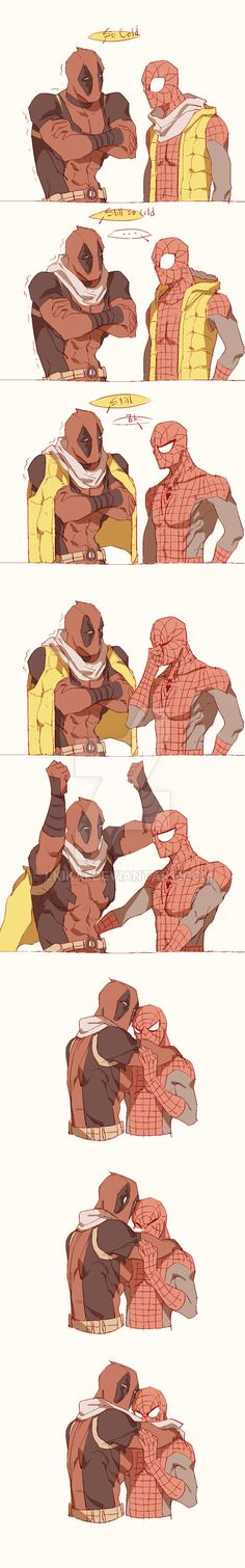 Spideypool204 by LKiKAi.deviantart.com on @DeviantArt