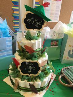 Peter Pan diaper cake