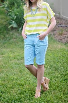 How to Wear Long Shorts | http://prettylifeanonymous.blogspot.com/