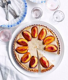 Nectarine and spiced-ricotta tart - Gourmet Traveller