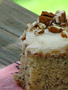 Pine Cones and Acorns: Best Ever Banana Cake with Cream Cheese Frosting