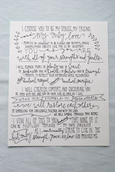 Have my vows professional done since my handwriting sucks