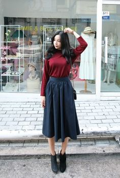 Shunichell Long Skirt | Korean Fashion