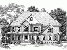 Farmhouse House Plan with 4305 Square Feet and 5 Bedrooms(s) from Dream Home Source | House Plan Code DHSW15682. This is my dream home.