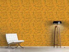 Design #Tapete Japanisches Herbstgold Japan, Warm Colors, Surface Design, Gold, Autumn, Curtains, Shower, Patterns, Prints