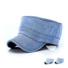 Mens Women Denim SunHat Fashion Adult Flat Top Cap Outdoor Sport Hiking Hat HOT!