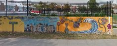 Mosaic mural between Irving and 11th streets in NW DC