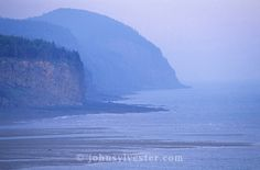 coastal cliffs;fog;Alma;Bay of Fundy;New Brunswick;Canada;landscape;scenic;seascape;shore