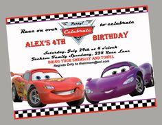 Disney Cars Birthday Invitation Lightning by ThatPartyChick, $14.00