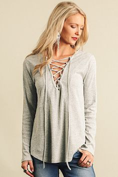 Striking Out Top - Grey from Chocolate Shoe Boutique