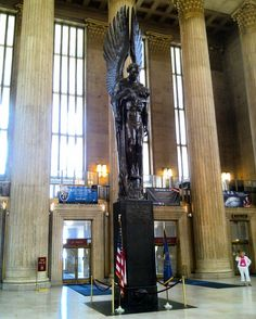 The comforting presence of Walter Hancock's WWII memorial 30th Street Station Philadelphia PA. Always cause for pause in several years living here. More later on the artist and work.