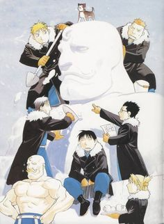 FMA Military hahahahhhh <-- you might as well say that he is well sculpted or chiseled.