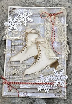 beautiful card and the website has some other beautiful cards and ways to use lots of vintage lace, buttons and other things.