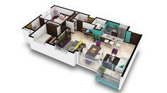 Apartamentos Tipo A.  Estos son los apartamentos más amplios de BAMBÚ Eco-Urbano, con un área de 70 m2 de construcción más parqueo, y usted puede pedirlos de 2 o 3 habitaciones, según su conveniencia.  Contáctenos al Tel:+506 2214 1111. Email:info@bambuecourbano.com. Web:http://bambuecourbano.com