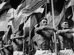 Lev Borodulin, Parade, Moscow, 1956.