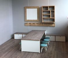 Shelves, Cabinet, Storage, Daycare Ideas, Furniture, Home Decor, School, Shelving, Clothes Stand