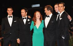 """Julianne Moore Colin Firth Photos Photos - (Left to Right) Actor Matthew Goode with director Tom Ford, actress Julianne Moore and actors Colin Firth,Nicholas Hoult and  model Jon Kortajarena attends the """"A Single Man"""" premiere at the Sala Grande during the 66th Venice Film Festival on September 11, 2009 in Venice, Italy. - A Single Man: Red Carpet - 66th Venice Film Festival"""