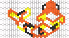 koi fish peyote stitch for necklace bead pattern