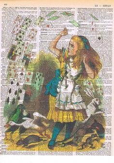 Alice in Wonderland.Recycled Vintage Book by studioflowerpower, $8.50