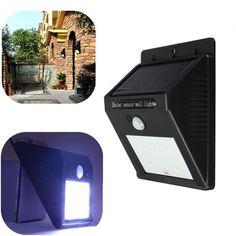 Solar Power 6 LED PIR Motion Induction Light Waterproof Outdoor Lamp