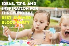 Tons of fantastic summer block party ideas, also great for backyard bbqs and outdoor potluck dinners.