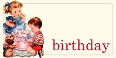 Birthday Flash Card from Pretty Little Studio