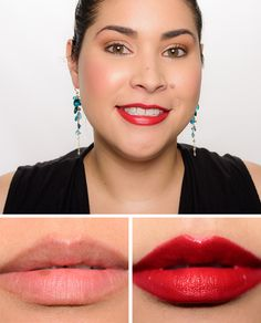 MAC Dare You, Lady Bug, Brave Red Lipsticks Reviews, Photos, Swatches