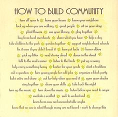 community building..part of building a civic society, a career path at one time for young men out of college, like Barack Obama...