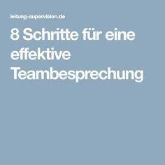 8 Schritte für eine effektive Teambesprechung