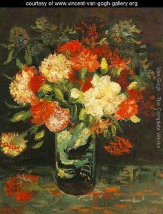 Vase With Carnations - Vincent Van Gogh - www.vincent-van-gogh-gallery.org