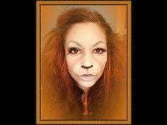 Lion Halloween Makeup - YouTube