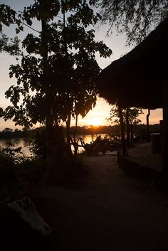 The bar @ Selous River Camp River Camp, Dining Area, Camping, Celestial, Bar, Sunset, Travel, Outdoor, Campsite