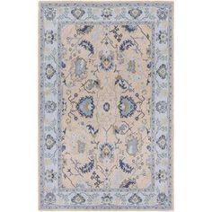 Surya Kansai Gray/Blue Area Rug Rug Size: