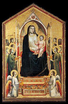 Ognissanti-Madonna Giotto di Bondone, um 1310 Tempera auf Holz, 325 × 204 cm Uffizien, Florenz
