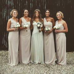 Cameo Colored Bridesmaid Dresses