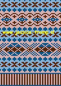 off loom beading Fair Isle Knitting Patterns, Knitting Charts, Loom Patterns, Knitting Stitches, Tejido Fair Isle, Motif Fair Isle, Khadra, Stitch Doll, Crochet Diagram