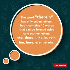 One of the many peculiar yet fun facts about the English language.