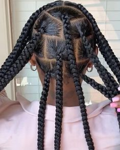 Big Box Braids Hairstyles, Braids Hairstyles Pictures, Black Girl Braids, Braided Hairstyles For Black Women, African Braids Hairstyles, Baddie Hairstyles, Braids For Black Hair, Hair Pictures, Little Girl Twist Hairstyles Black