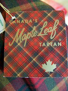 Vintage Maple Leaf Tartan garment tag, ca. 1965, via Square with Flair.