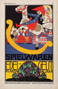 Die Fläche (The Surface) was a Viennese graphic arts periodical published in two volumes featuring the work of artists associated with the Wiener Werkstätte. The first volume was published in 1903/1904 by Felician Baron Myrbach and the second in 1910 by Bertold Löffler in association with Anton Scholl & Co.