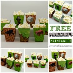 Minecraft Free Printables | www.completepartybags.com.au Birthday Wishes Cake, Dad Birthday Card, Cool Birthday Cakes, 8th Birthday, Minecraft Crafts, Minecraft Cake, Minecraft Birthday Party, Fun Crafts For Kids, Cakes For Boys
