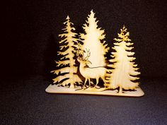 Deer in woods nature
