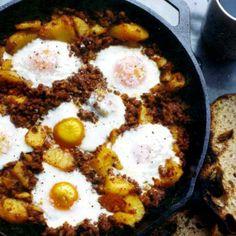 chorizo, eggs and potatoes