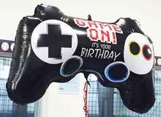 "Jumbo mylar balloons always make a great impression in the party room and this video game controller is no exception.  I purchased two of these 36"" balloons for my son's Xbox theme birthday celebration."