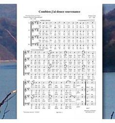 Franz LISZT / CHATEAUBRIAND - Combien j'ai douce souvenance - chanson à 4 voix mixtes (SATB) - Editions Musiques en Flandres - référence : MeF 830