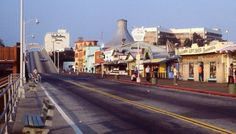 Vintage slides of the Santa Monica Pier in 1970.