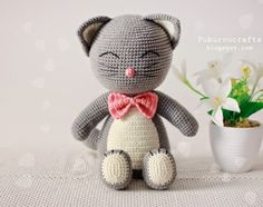 fukuroucrafts: Cute Crochet Pattern Cat Doll, Cute Amigurumi Patt...