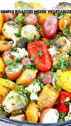 Roasted Mixed Vegetables, Grilled Vegetables, Veggies, Side Dish Recipes, Side Dishes, Dinner Recipes, Healthy Gluten Free Recipes, Vegetarian Recipes, Vegetable Dishes